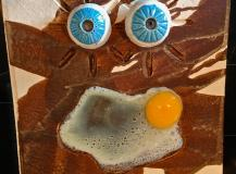 Eye balls on the egg plate