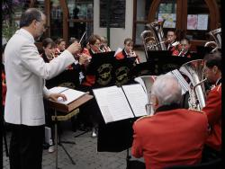 Local brass band performing, 2001