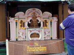 Tim Olden's collaboration with a local barrel organ, 2001