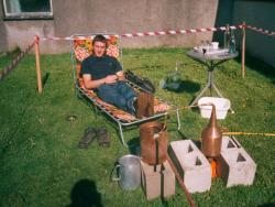 Graeme Roger with his still (2002)
