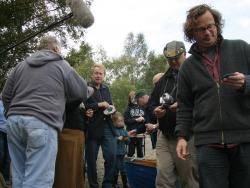 Hugh Fearnley-Whittingstall filming char fishing