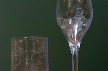 Engraved Drinking Glass by Peter Hodgson